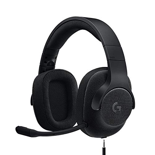 Logitech G433 kabelgebundenes Gaming-Headset, 7.1 Surround Sound, DTS Headphone:X, 40mm Treiber, USB-Anschluss & 3.5mm Klinke, Abnehmbares Mikrofon, PC/Mac/Xbox One/PS4/Nintendo Switch, Schwarz von Logitech G
