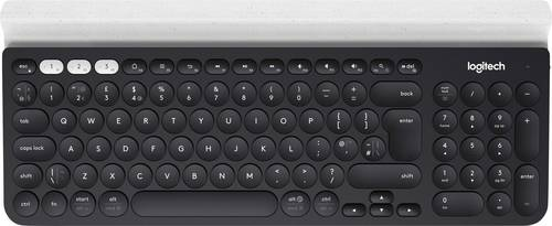 Logitech K780 Multi-Device Bluetooth® Tastatur Deutsch, QWERTZ, Windows® Schwarz von Logitech