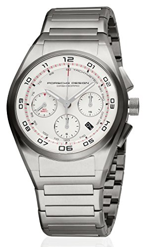 Porsche Design Dashboard Herren-Armbanduhr Chronograph Analog Automatik mit Titanium-Band Zifferblatt weiss 6620.11.66.0268 von MEN'S WATCH PORSCHE 6620.11.66.0268 (42 MM)