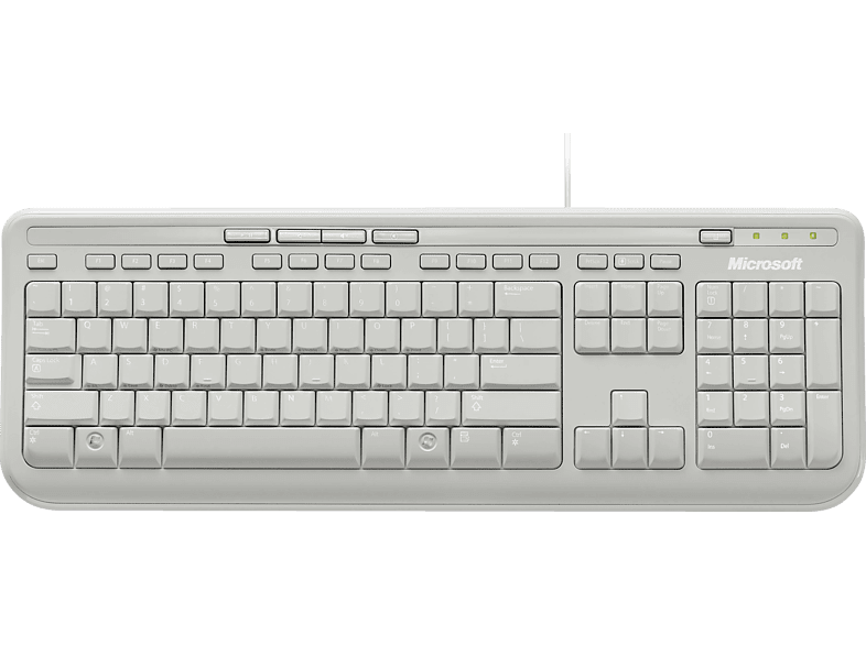 MICROSOFT Wired Keyboard 600 Tastatur in Weiß von MICROSOFT