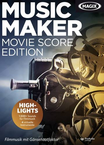 Magix Music Maker Movie Score Edition Vollversion, 1 Lizenz Windows Musik-Software von Magix