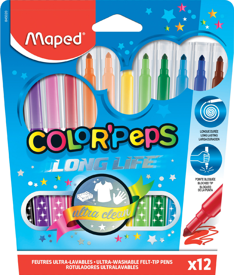 Maped Fasermaler COLOR, PEPS, 12er Kartonetui von Maped