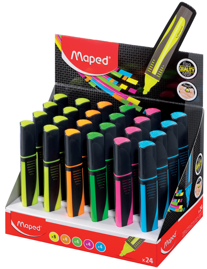 Maped Textmarker FLUO, PEPS MAX, 24er Display von Maped