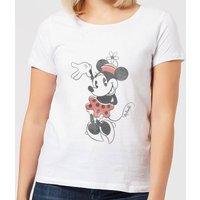 8f2b6c8779 Disney Mickey Mouse Minnie Mouse Waving Frauen T-Shirt - Weiß - M - Weiß