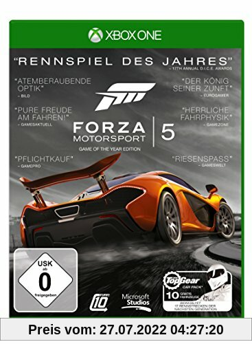 Forza Motorsport 5 - Game of the Year Edition - [Xbox One] von Microsoft