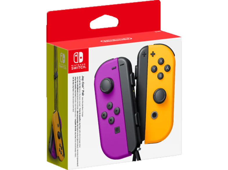 NINTENDO Switch Joy-Con 2er-Set Controller Controller, Neon-Lila/Neon-Orange von NINTENDO