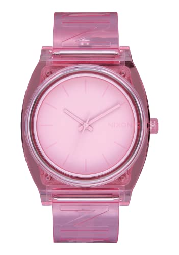 Women's NIXON Time Teller P A138 - Pink/Nixon - 119M Water Resistant Men's Analog Fashion Watch (40mm Watch Face, 20mm Pu/Rubber/Silicone Band) von NIXON