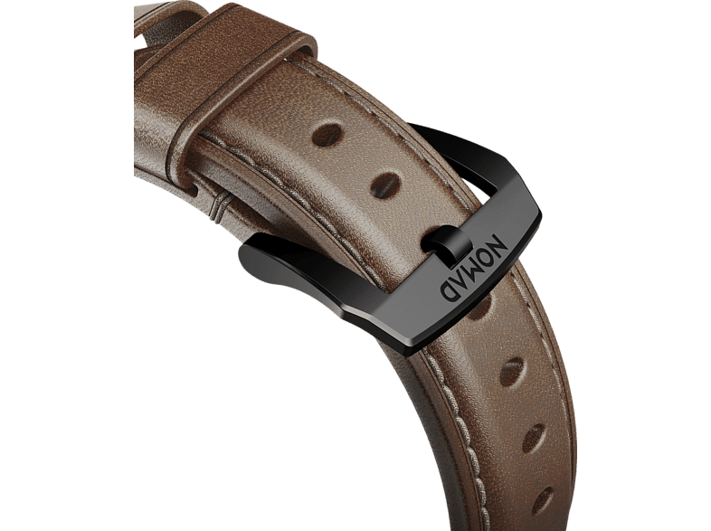 NOMAD Strap Traditional Leather Connector Black 42 mm, Ersatzarmband, Apple, Apple Watch Sport, Apple Watch und Apple Watch Edition kompatibel, Serien 1, 2, 3 und 4, Braun/Schwarz von NOMAD