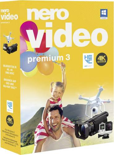 Nero Video Premium 3 Vollversion, 1 Lizenz Windows Videobearbeitung von Nero