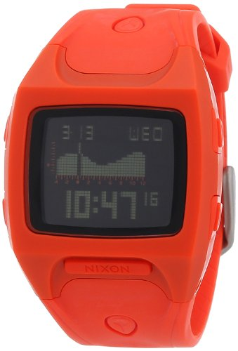 Nixon Herren-Armbanduhr The Small Lodown Neon Orange Digital Quarz Plastik A4981156-00 von NIXON