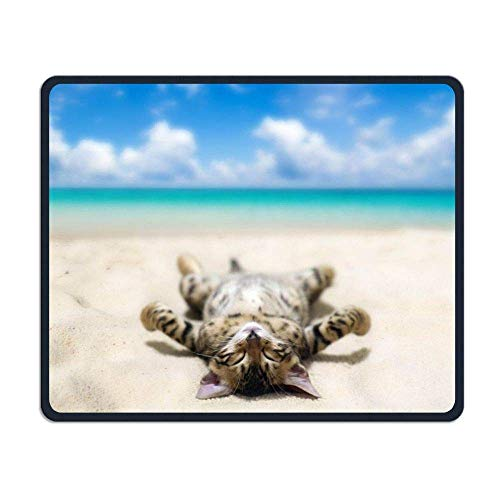 Cat Gaming Mouse Pad Custom Design Non-Slip Rubber Mouse Mat for Desk,Laptop von Nizefuture