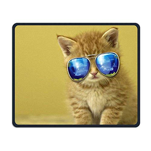 Cool Cat Gaming Mouse Pad Custom Design Non-Slip Rubber Mouse Mat for Desk,Laptop von Nizefuture