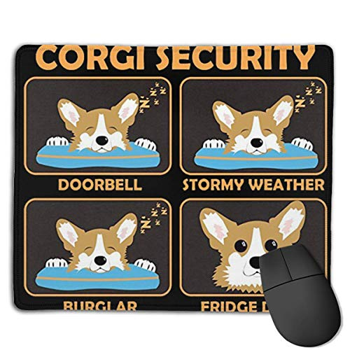 Corgi Security Locking Mouse Pad Anti-Slip Soft Gaming Rubber Mousepads von Nizefuture