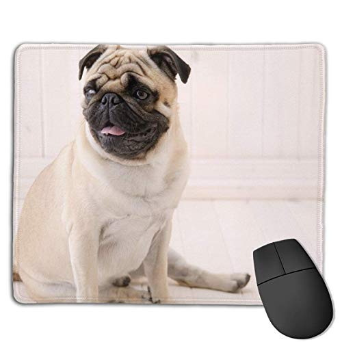 Cute Bbulldog Locking Mouse Pad Anti-Slip Soft Gaming Rubber Mousepads von Nizefuture