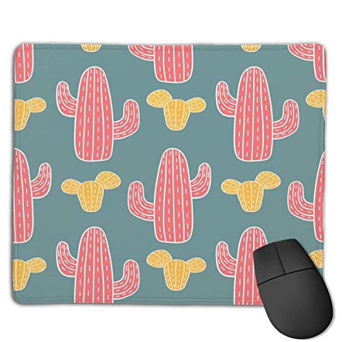 Cute Cactus Locking Mouse Pad Anti-Slip Soft Gaming Rubber Mousepads von Nizefuture