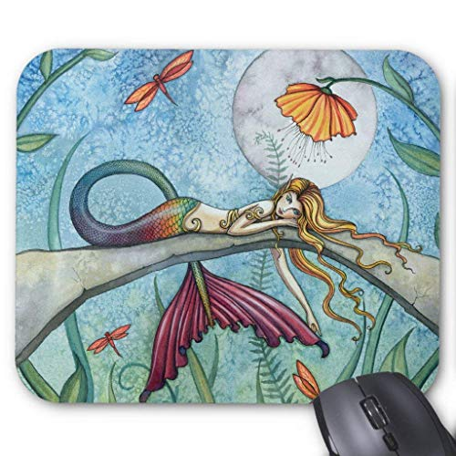 Down By the Pond Mermaid Art Mouse Pad von Nizefuture