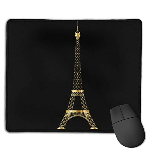 Eiffel Tower Locking Mouse Pad Anti-Slip Soft Gaming Rubber Mousepads von Nizefuture