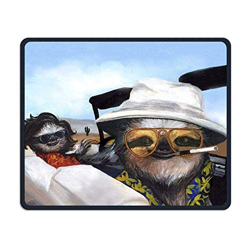 Funny Sloth Gaming Mouse Pad Custom Design Non-Slip Rubber Mouse Mat for Desk,Laptop von Nizefuture