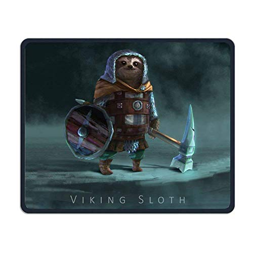 Funny Viking Sloth Gaming Mouse Pad Custom Design Non-Slip Rubber Mouse Mat for Desk,Laptop von Nizefuture