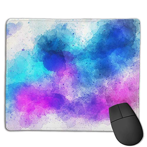 Halo Watercolor Locking Mouse Pad Anti-Slip Soft Gaming Rubber Mousepads von Nizefuture