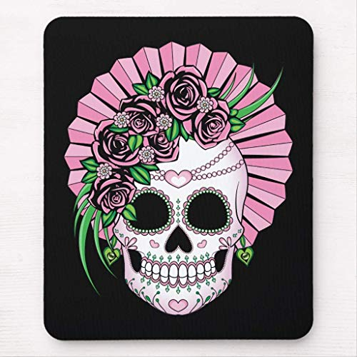 Lady Sugar Skull Mouse Pad von Nizefuture