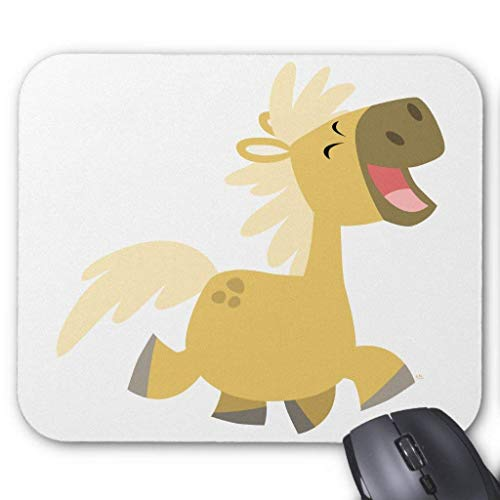Laughing Cartoon Pony Mousepad von Nizefuture