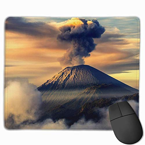 Mouse Pad Active Volcano Nature Landscape Rectangle Rubber Mousepad 11.81 X 9.84 Inch Gaming Mouse Pad with Black Lock Edge von Nizefuture