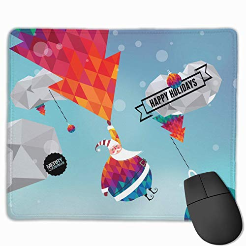 Mouse Pad Christmas Happy Holidays Rectangle Rubber Mousepad 11.81 X 9.84 Inch Gaming Mouse Pad with Black Lock Edge von Nizefuture