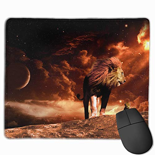 Mouse Pad Cool Lion Art Illustration Rectangle Rubber Mousepad 11.81 X 9.84 Inch Gaming Mouse Pad with Black Lock Edge von Nizefuture