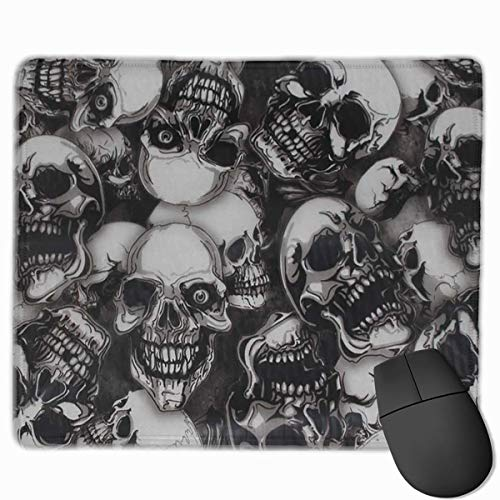 Mouse Pad Cool Skulls Seamless Art Rectangle Rubber Mousepad 11.81 X 9.84 Inch Gaming Mouse Pad with Black Lock Edge von Nizefuture