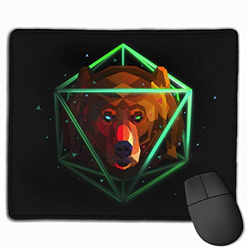Mouse Pad Cool Space Bear Rectangle Rubber Mousepad 11.81 X 9.84 Inch Gaming Mouse Pad with Black Lock Edge von Nizefuture