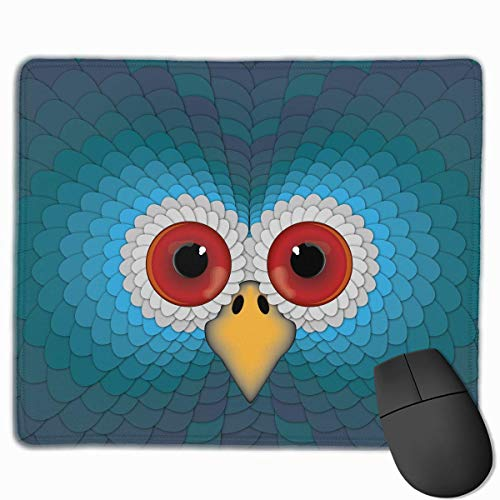 Mouse Pad Cool Turkey Head Art Rectangle Rubber Mousepad 11.81 X 9.84 Inch Gaming Mouse Pad with Black Lock Edge von Nizefuture
