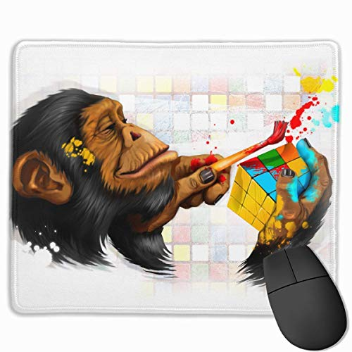 Mouse Pad Cute Monkey Paint Magic Cube Rectangle Rubber Mousepad 11.81 X 9.84 Inch Gaming Mouse Pad with Black Lock Edge von Nizefuture