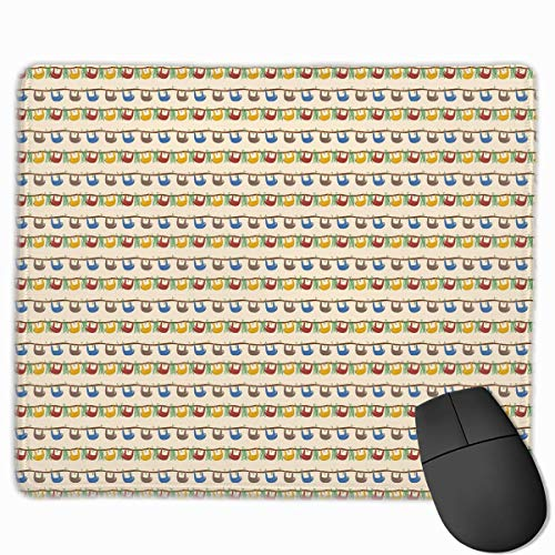 Mouse Pad Cute Sloths Art Painting Rectangle Rubber Mousepad 11.81 X 9.84 Inch Gaming Mouse Pad with Black Lock Edge von Nizefuture