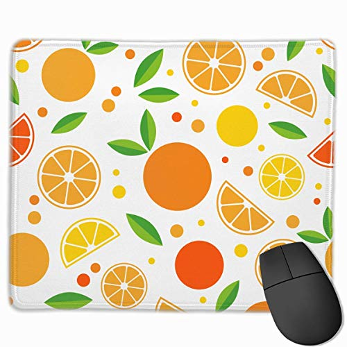 Mouse Pad Fruits Orange Lemon Lovers Rectangle Rubber Mousepad 11.81 X 9.84 Inch Gaming Mouse Pad with Black Lock Edge von Nizefuture
