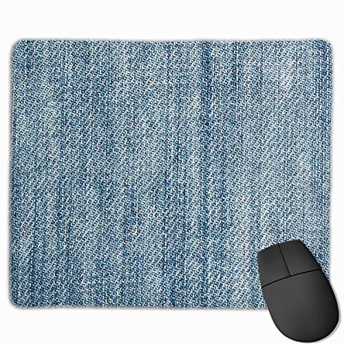 Mouse Pad Jeans Fabric Thread Art Rectangle Rubber Mousepad 11.81 X 9.84 Inch Gaming Mouse Pad with Black Lock Edge von Nizefuture