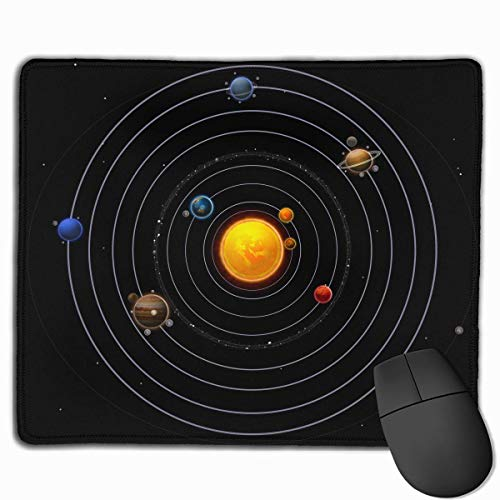 Mouse Pad Solar System Planets Art Rectangle Rubber Mousepad 11.81 X 9.84 Inch Gaming Mouse Pad with Black Lock Edge von Nizefuture