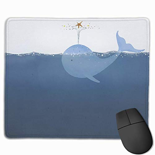 Mouse Pad Whale Cartoons Funny Pattern Rectangle Rubber Mousepad 11.81 X 9.84 Inch Gaming Mouse Pad with Black Lock Edge von Nizefuture