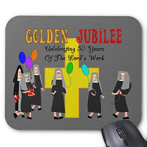 Nuns Golden Jubilee Gifts Mouse Pad von Nizefuture