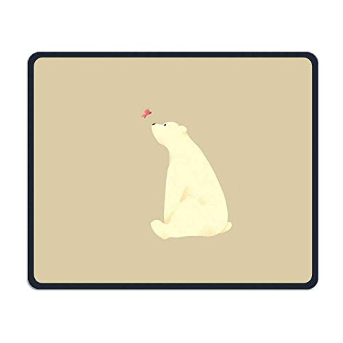 Polar Bear Art Gaming Mouse Pad Custom Design Non-Slip Rubber Mouse Mat for Desk,Laptop von Nizefuture
