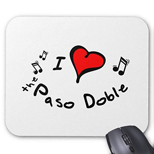 The Paso Doble I Heart-Love Gift Mouse Pad von Nizefuture