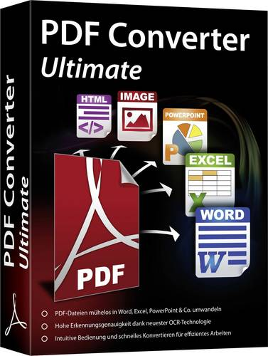 PDF Converter Ultimate Vollversion, 1 Lizenz Windows PDF-Software von No Name (foreign brand)