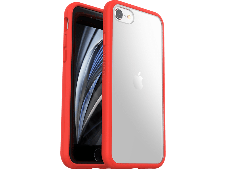 OTTERBOX React, Backcover, Apple, iPhone SE (2nd gen) / 7 8, Transparent/Rot von OTTERBOX