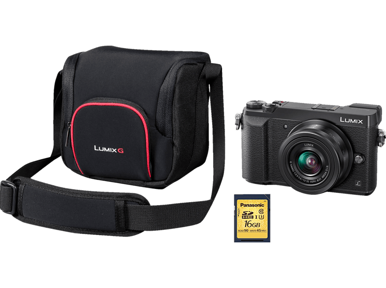 PANASONIC Lumix DMC-GX80 Systemkamera mit Objektiv 12-32 mm f/3.5-5.6, f/4.0-5.6, 7,5 cm Display Touchscreen, WLAN von PANASONIC