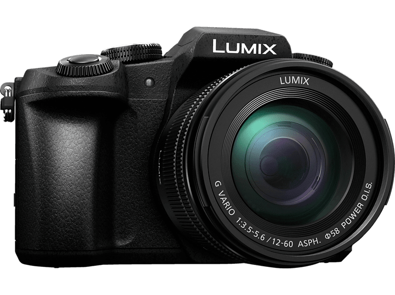 PANASONIC Lumix DMC-G81MEG Systemkamera mit Objektiv 12-60 mm f/5.6, 7,5 cm Display, WLAN von PANASONIC