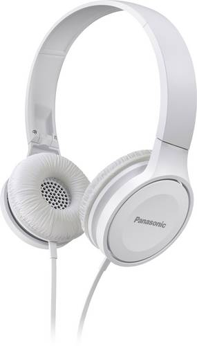 Panasonic RP-HF100ME Reise On Ear Kopfhörer On Ear Faltbar, Headset Weiß von Panasonic