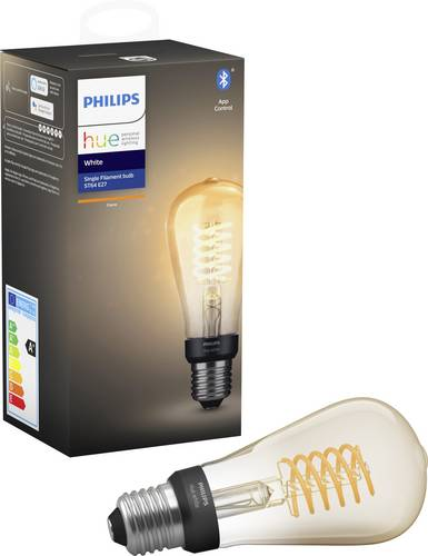 Philips Lighting Hue LED-Leuchtmittel (einzeln) EEK: A+ (A++ - E) E27 7W Warm-Weiß von Philips Lighting