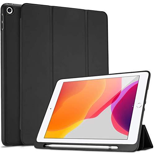 Galaxy Tab A 10.1 2019 Felt Carrying Bag Pouch for Surface Go 2018,Mediapad T5 10 Dadanism 9-10 Inch Tablet Sleeve Case Fits iPad 7th Gen 10.2 2019// iPad 9.7//Air 10.5//Pro 10.5 Light Grey /& Brown