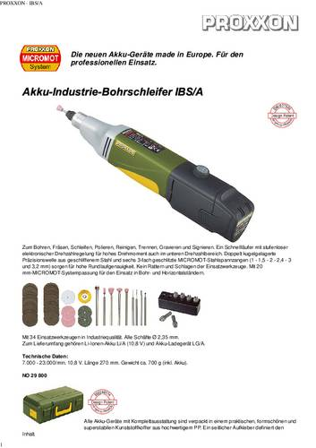 Proxxon Micromot Schleifbürsten-Set für SP//E    28 312 1 Set