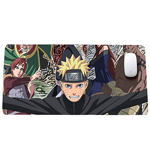 Gaming-Mauspad, Naruto, Anime-Cartoon-Tastaturpad, XXL (800x300) (900x400) 3 Mm Verdickung Für Desktop- Und Desktop-Laptop-Pads von QIUPDE